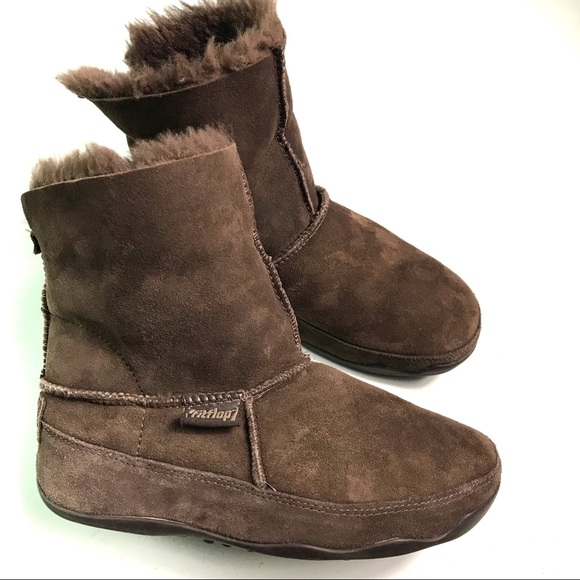 295cedb56035 Fitflop Dark Brown Fur Winter Boots Size 7
